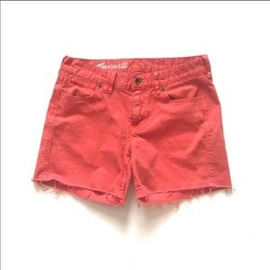 Madewell Coral Denim Jean Shorts Size 26